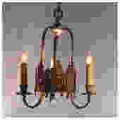 A4882 Antique Cast Bronze Three Candle Ceiling Chandelier Light Fixture by bbbantiques