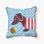 Little Playful Doxie Dachshund Pillow