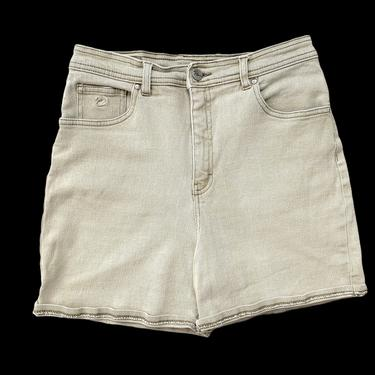 Vintage 1990s GLORIA VANDERBILT Jean Shorts ~ measure 27.5 Waist / size 5 ~ Stretch Denim ~ High Waist / Mom Jeans ~ 27 28 Waist by SparrowsAndWolves