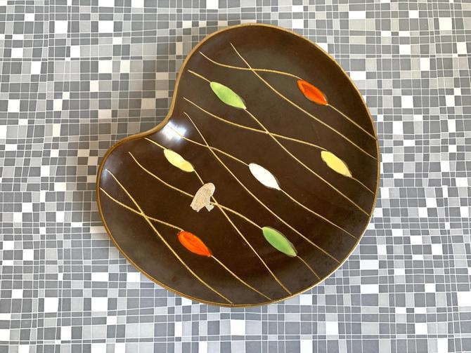 Bay Keramik Plate multicolor Mid Century by dadacat