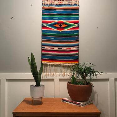 Mexico Saltillo FINE Serape tapestry Wall Runner Tapestry Southwestern Mexican Blanket Wool & Nature Southwest Western Authentic Vintage by VintageCoreReStore