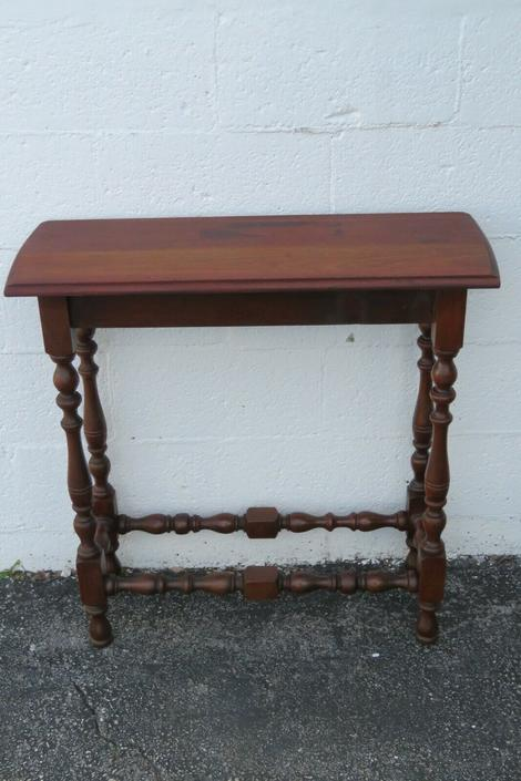 Early 1900s Narrow Console Side Table with a Drawer 2255
