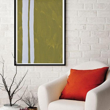 Sale-New 2-Strips Large 24x36, 36x48 Original Canvas Art Painting Abstract Minimalist Modern Contemporary Artwork by ArtbyDinaD by ArtbyDinaD