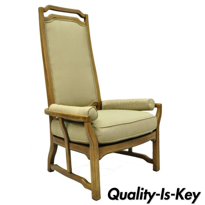 Mid Century Modern Tall Back James Mont Edward Wormley Style Lounge Arm Chair