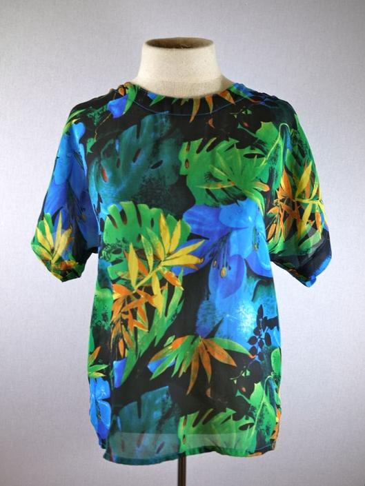 Bright Floral Tropical Rainforest Blouse by citybone