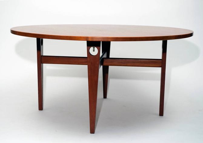 Hans J Wegner Round Teak Dining Table Getama Danish Mcm From Modern Montage Of Arlington Va Attic