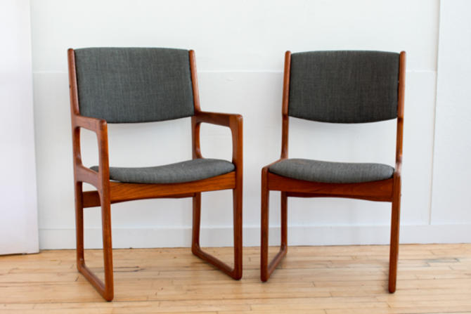 Set of 6 Benny Linden Sled Base Dining Chairs