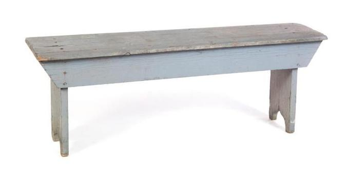Antique Primitive American Country Store Bench | 19th c.