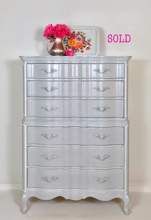 SOLD~example French Provincial Dresser in Grey by RevitalizedStore