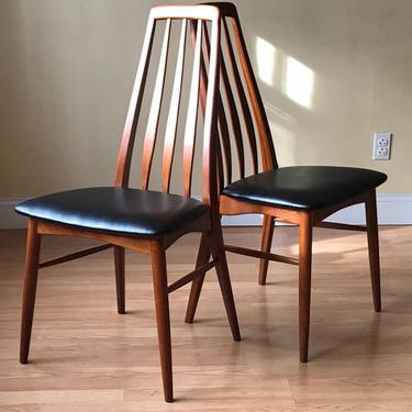 Set of TWO Eva dining side Chairs by Neils Koefoed in Teak by ASISisNOTgoodENOUGH