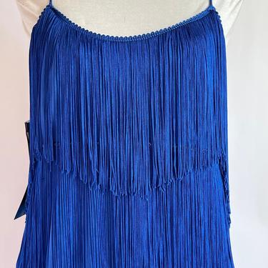 1980's Does Twenties Royal Blue Flapper Style Dress fits by BeggarsBanquet