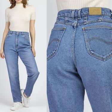 90s High Waist Lee Jeans - Medium | Vintage Denim Pants Light Wash Mom Jeans by FlyingAppleVintage
