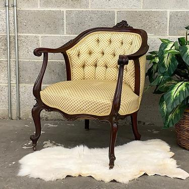 LOCAL PICKUP ONLY ———— Antique Barrel Chair by RetrospectVintage215