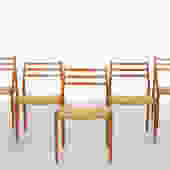 SET OF NIELS MOLLER MODEL 62 DINING CHAIRS