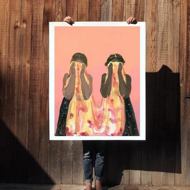 All Together . extra large wall art . giclee print by ClareElsaesser