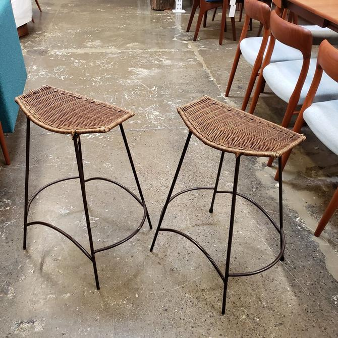 Arthur Umanoff wrought Iron Bar Stools