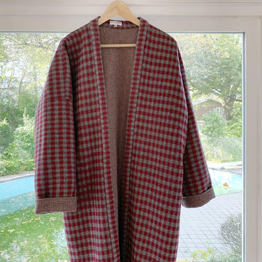Wool Check coat by shopjoolee