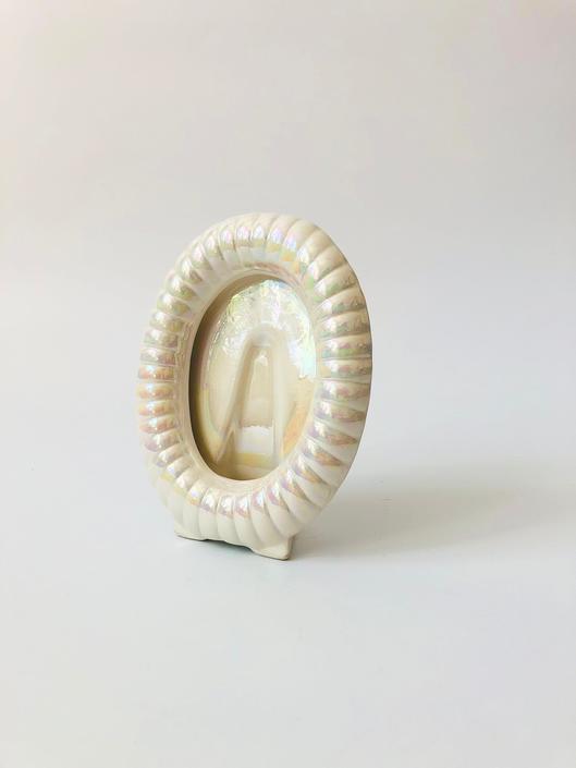 Vintage Iridescent Ceramic Picture Frame by SergeantSailor