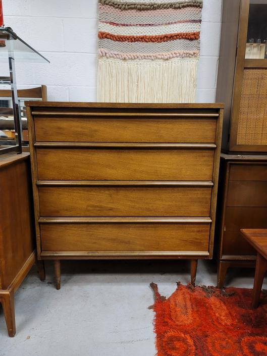 Bassett Walnut Tall Chest