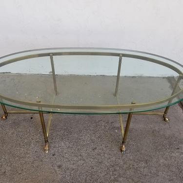 Brass & Glass Coffee Table by La Barge by JanakosAndCompany