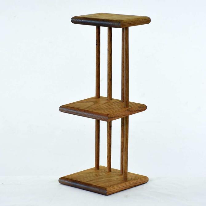 Frank Lloyd Wright Style Adjustable Corner Shelf