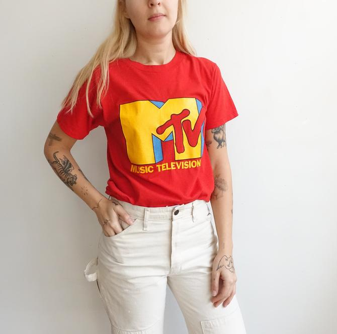 Vintage 80s MTV T Shirt/ 1980s Music Television Promotional T Shirt/ I want my MTV