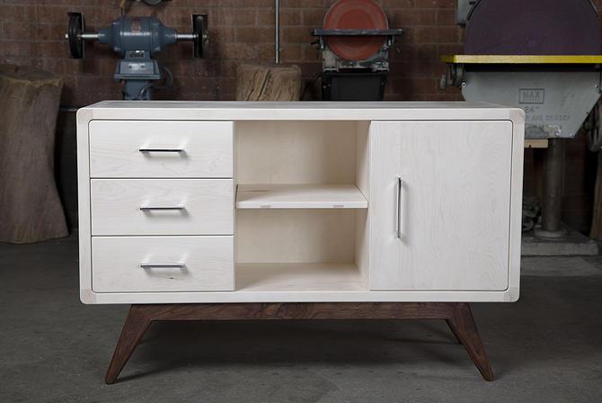 Linden St. Bleached Maple & Walnut Sideboard // by Kyle D'Auria // Mid Century Modern Credenza by kyledauria