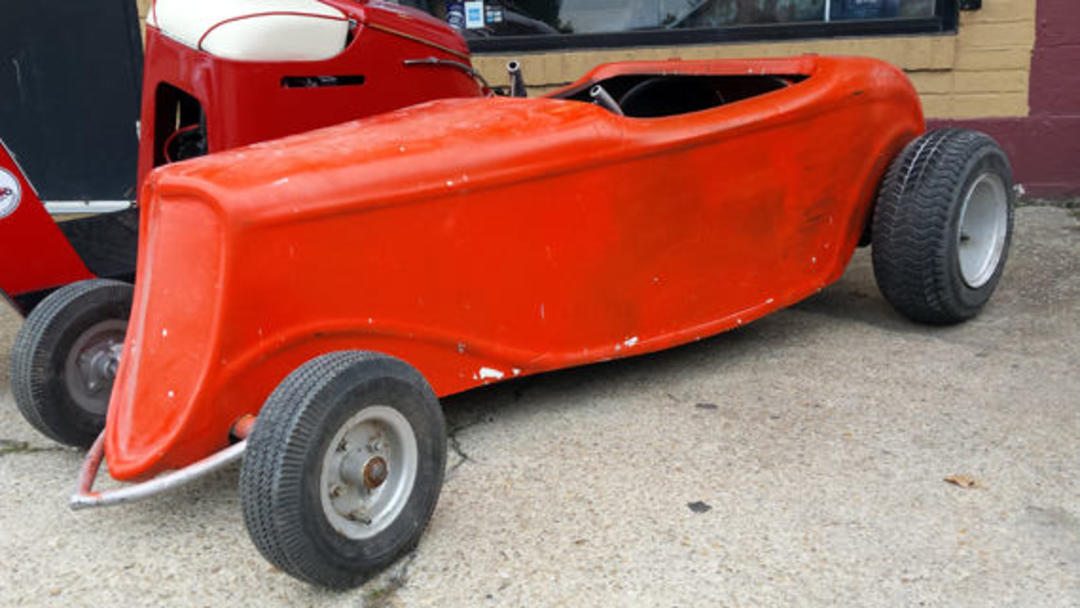 Vintage 1960 S Go Kart Orange 34 Ford Rat Rod Go Kart