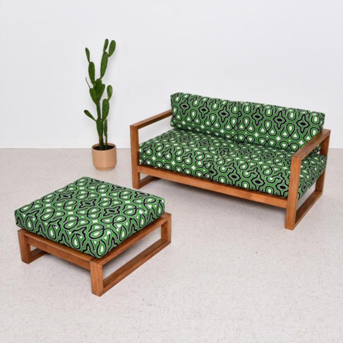 Miraculous Teak Vintage Outdoor Loveseat And Ottoman In Newly Creativecarmelina Interior Chair Design Creativecarmelinacom