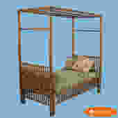 Single Bamboo Day Bed