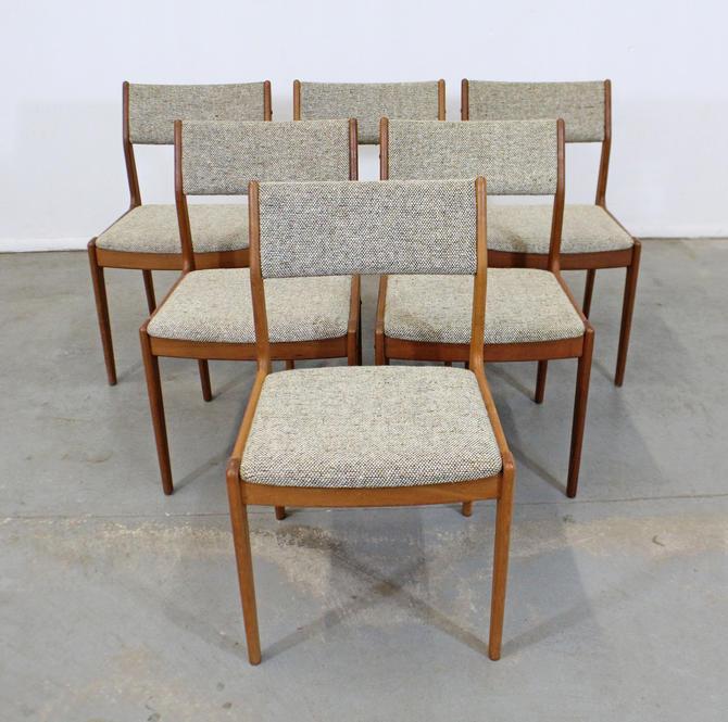 Set of 6 Mid-Century Danish Scandinavian Modern Teak Side Dining Chairs by AnnexMarketplace