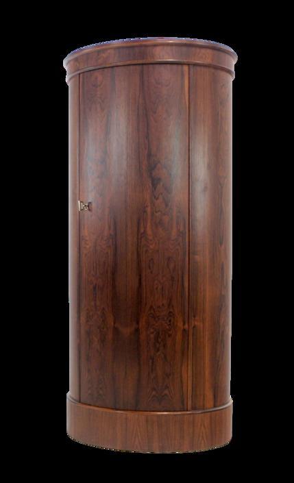Extraordinary Scandinavian Modern Rosewood Cabinet by Johannes Sorth Bornholm