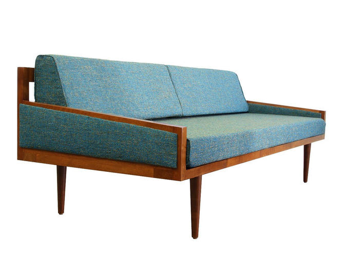 Mid Century Modern Daybed Casara Modern Executive Sofa Daybed New 2019 Lifestyle Stain Repellent Pet & Kid Friendly Fabric by CasaraModernShop
