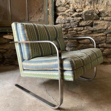 Mid century modern club chair Baughman cantilevered chair modern lounge chair by VintaDelphia