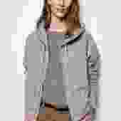 Callie Zip Up Hoodie - Heather Grey