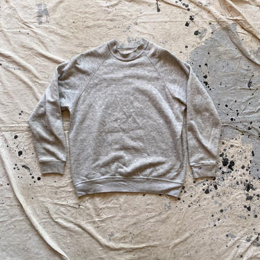 Vintage 1980s Bassett Walker Heather Gray Raglan Sweatshirt by NorthGroveAntiques