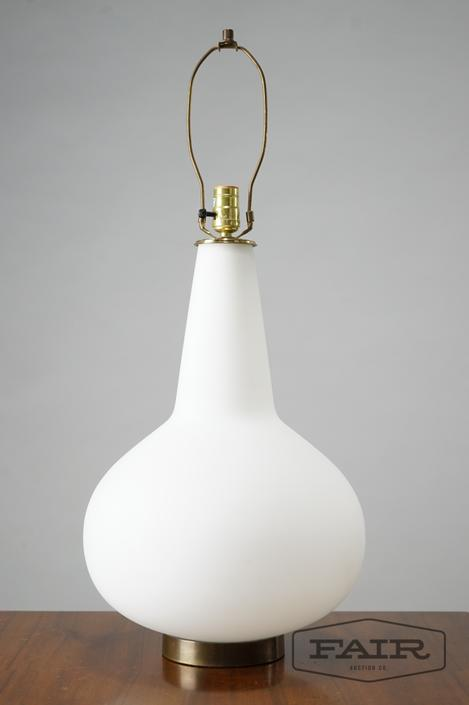 Hand Blown Italian Frosted Glass Lamp