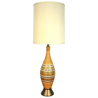 Mid-Century Modern Ceramic Beehive Table Lamp by SelectModernDesign