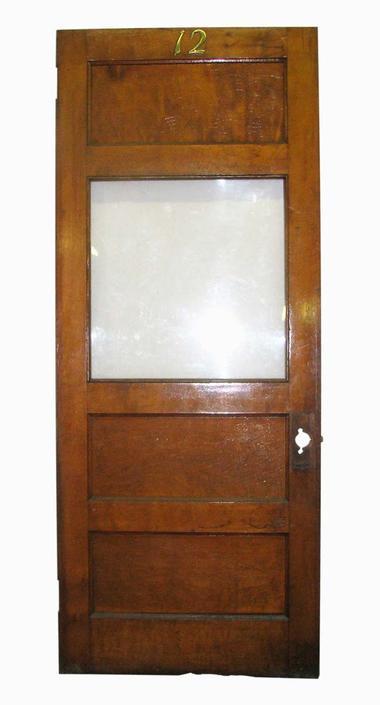 Antique 1 Lite 2 Panel Office Door 89.25 x 36