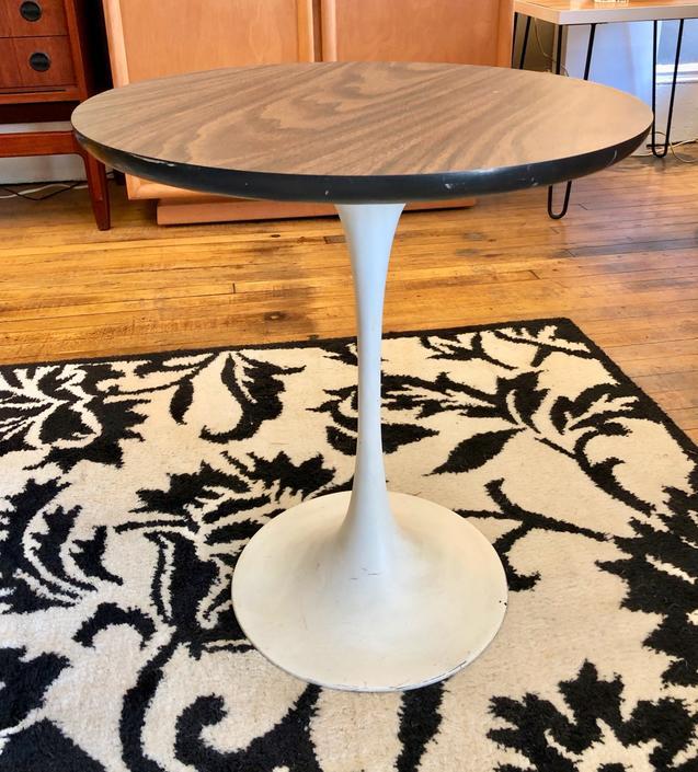 Single Mid Mod Tulip side Table by Burke