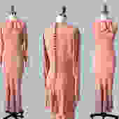 1930s Dress / 30s Pink Crepe Two Piece Gown / Jacket / Blouse Set by GuermantesVintage