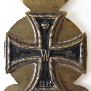 Maltese Cross trench art, WW1 by ArtloversFinds