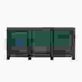Distressed Teal Blue Green Finish High Credenza Console Buffet Table cs5384S
