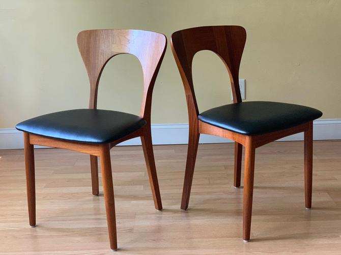 Niels Koefoed Peter Chairs Koefoeds  for Hornslet Danish dining side chairs, side chairs, desk chairs, bedroom chairs by ASISisNOTgoodENOUGH