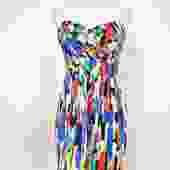 Shoshanna Size 8 Multi-Color Sleeveless Dress