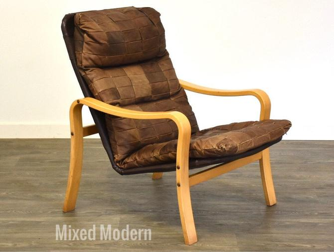 Bentwood Leather Lounge Chair by mixedmodern1