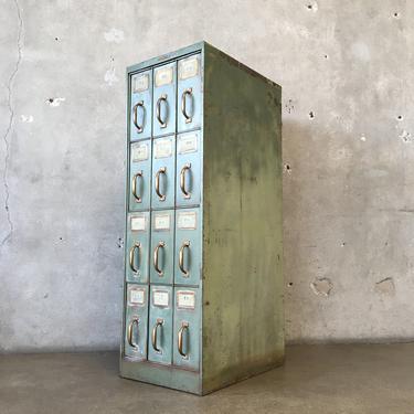 Vintage Industrial Shoe Cabinet