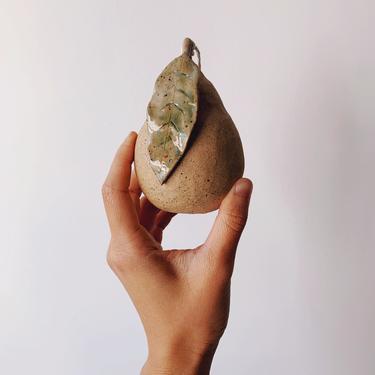 Ceramic Pear Ornament // handmade pottery by mammothandminnow