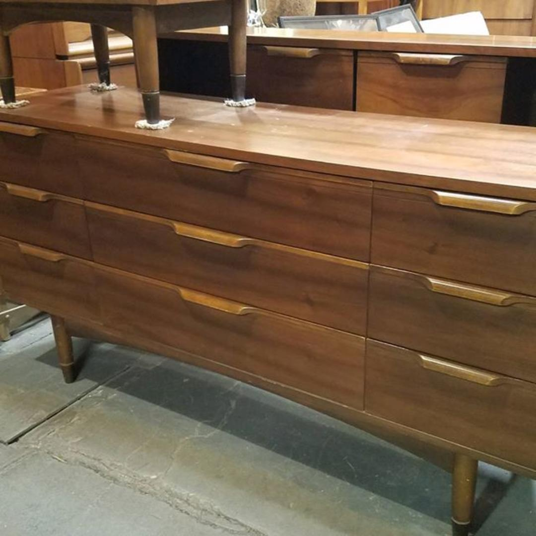 Mid century modern nine drawer dresser  Mainline by Hooker  Matching tall  chest. Hooker Furniture Company from furniture stores in Washington DC