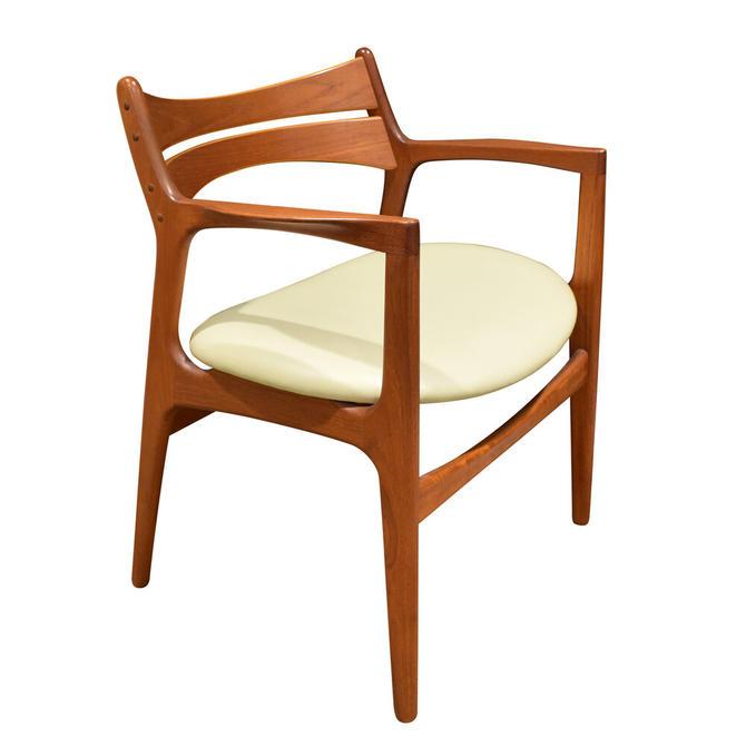 Stylish Danish Desk Chair In Teak 1950s (Signed)